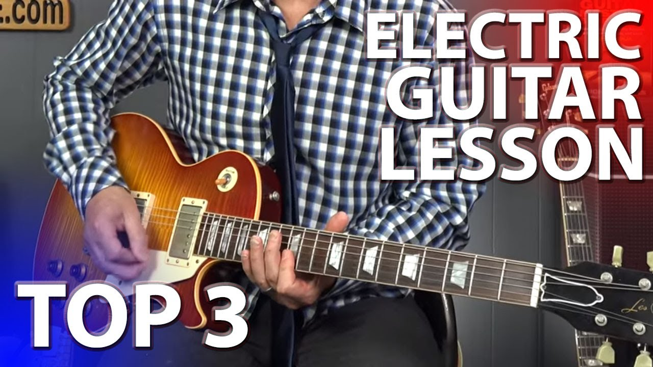 electric guitar lesson for beginners top 3 things to know youtube. Black Bedroom Furniture Sets. Home Design Ideas