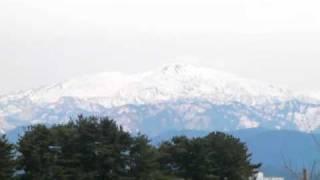 白山遠望 小松城天守台より Mt. Hakusan from Komatsu Castle 20100409