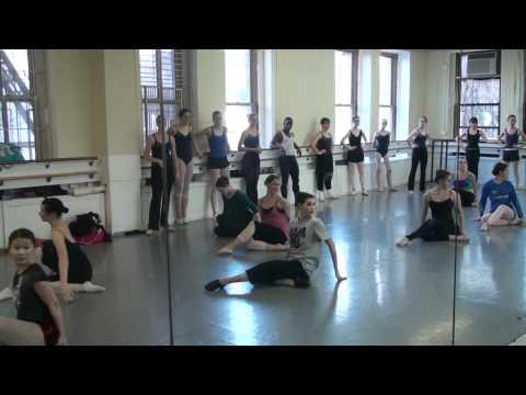 Ashani Mfuko's Adv. Jazz Dance Class At The Joffrey Ballet School In NYC