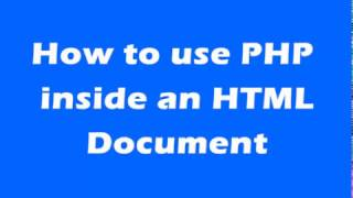 How to run PHP code in HTML file
