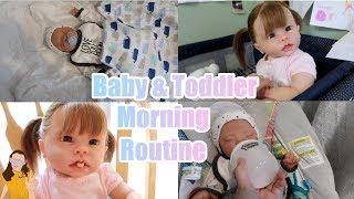 Reborn Toddler & Baby Morning Routine! Tate & Charlie's Morning Routine! | Kelli Maple