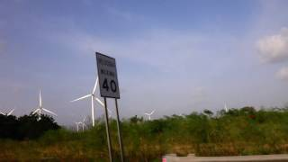 Driving by the Santa Isabel Wind Farm in Puerto Rico