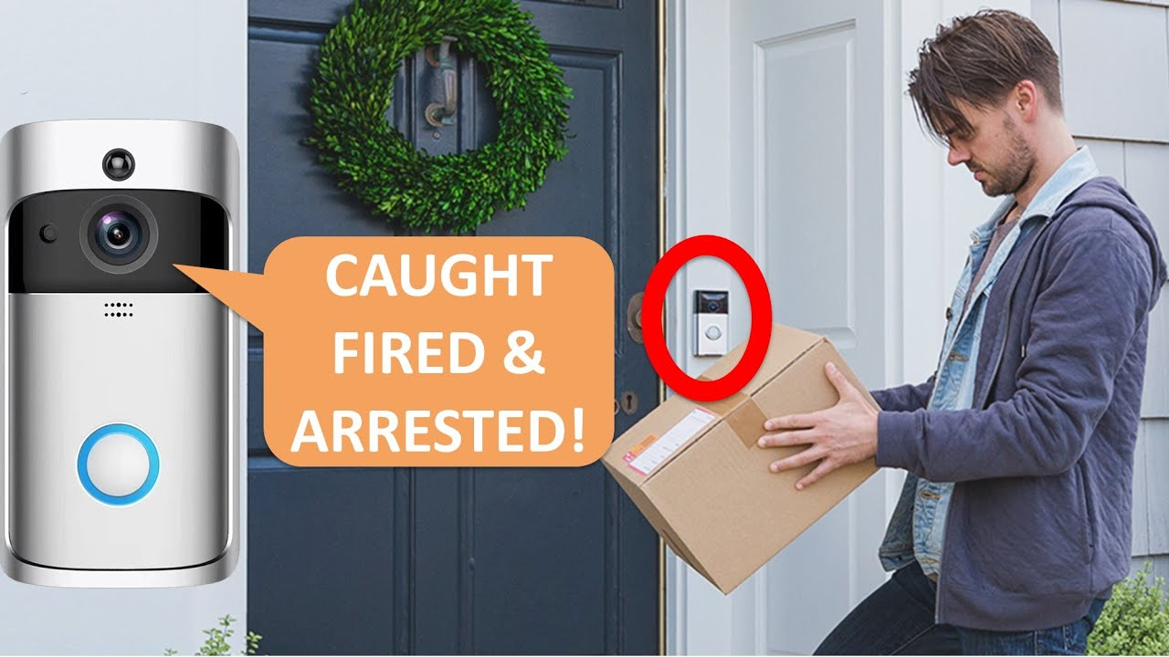 Domino's driver STOLE our package so we got her FIRED and ARRESTED!!! with Ring Doorbell!