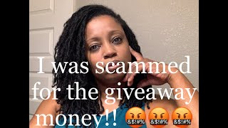 Scammed on YouTube…They tried to scam me for the giveaway money. Here's what happened....