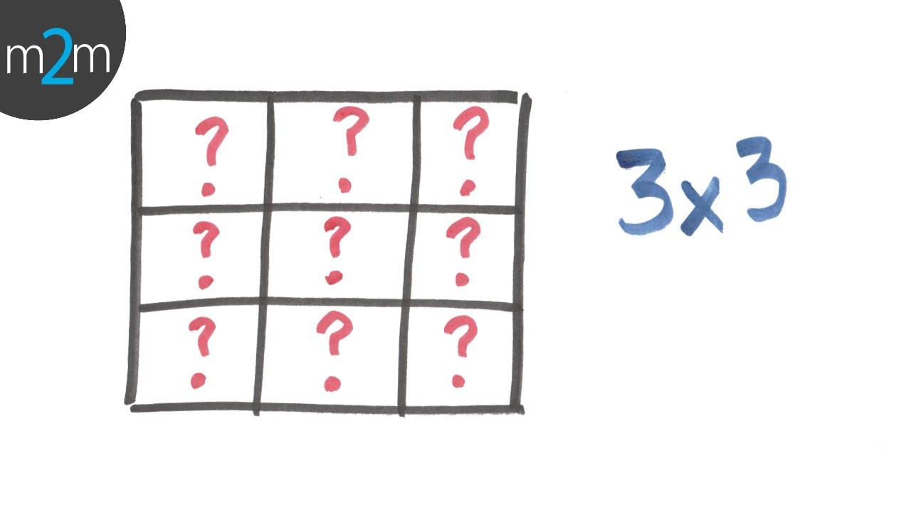 Resolver le cuadrado mágico 3x3. Solving 3x3 magic square - YouTube