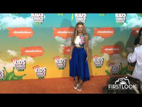 Isabella Castillo arriving at the Kids Choice Awards in Inglewood CA