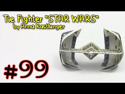 Origami Money Tie Fighter Star Wars By Anna Kastlunger Yakomoga