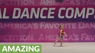 4-year-old girl dazzles crowd with Wonder Woman dance routine