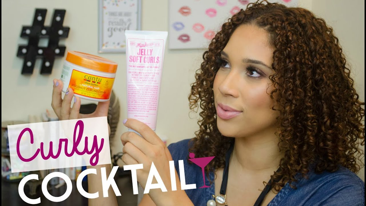 Curly Cocktail Cantu Coconut Curling Cream Miss Jessie