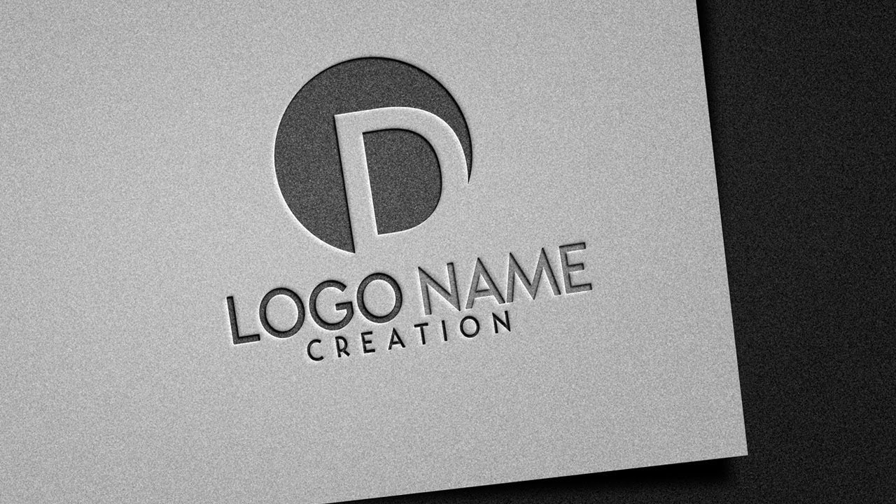 embossed pressed logo style logo design photoshop tutorial