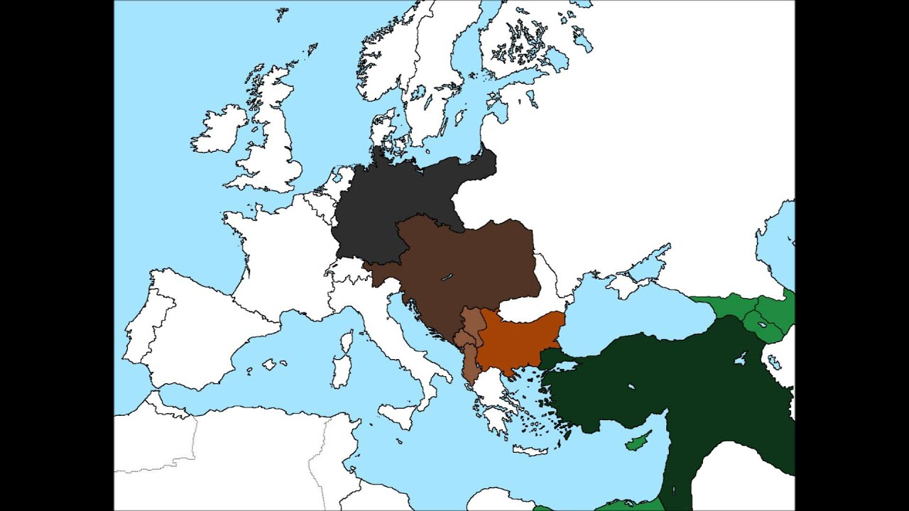Map of Europe if the Central Powers won World War I - YouTube