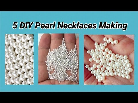 5 DIY Pearl bead necklaces making at home