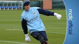 Repeat youtube video HART THE STRIKER Goalkeeper Joe Hart plays as a forward in training
