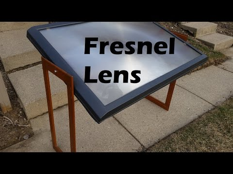 Boiling Water & Melting Metal with the Sun - Fresnel Lens