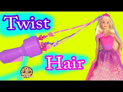 TWIST SNAP 'N STYLE Princess Endless Hair Kingdom Barbie Doll - Cookieswirlc Toy Unboxing Video