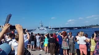 Парад кораблей ВМФ России в Санкт-Петербурге 29 июля 2018 г.