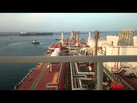Unberthing an LNG Vessel