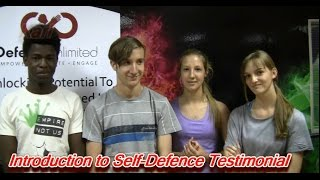 Introduction to Self-Defence Workshop Testimonial