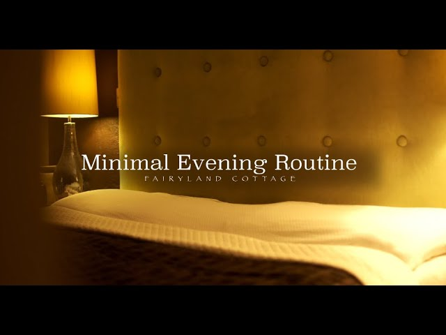 Minimal Evening Routine - Slow Living in Autumn