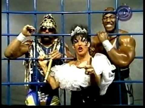Unintelligable Macho Man, Zeus, and Sensational Sherri Promo