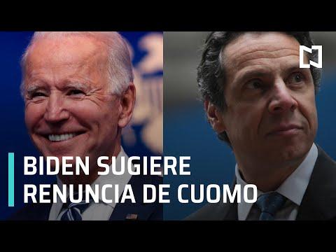 Joe Biden dice que Andrew Cuomo, debe renunciar tras acusaciones de acoso sexual - Las Noticias