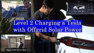 Speed Charging a Tesla with Offgrid Solar Power :)