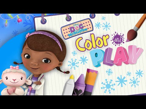 doc mcstuffins color and play winter time 3d animated coloring book app for kids by disney - Doc Mcstuffins Coloring Book