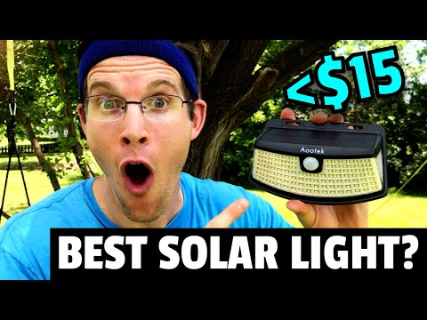 BEST SOLAR SECURITY LIGHT on AMAZON!? | 2020 AOOTEK Outdoor Motion Light Review