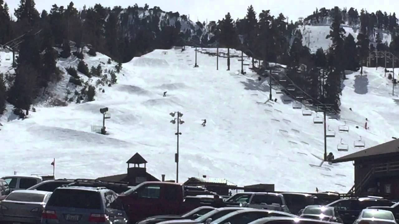 bear mountain ski resort. snow report february 18, 2016 big bear