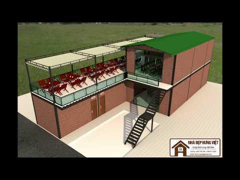 Công trình tổ hợp Nhà hàng, Cafe, Karaoke bằng giải pháp kết cấu thép