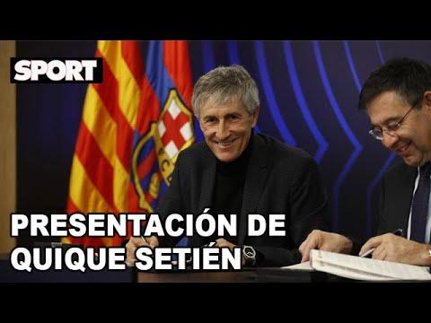 presentaciÓn-de-quique-setiÉn-como-nuevo-entrenador-del-fc-barcelona-👨🏻🏫