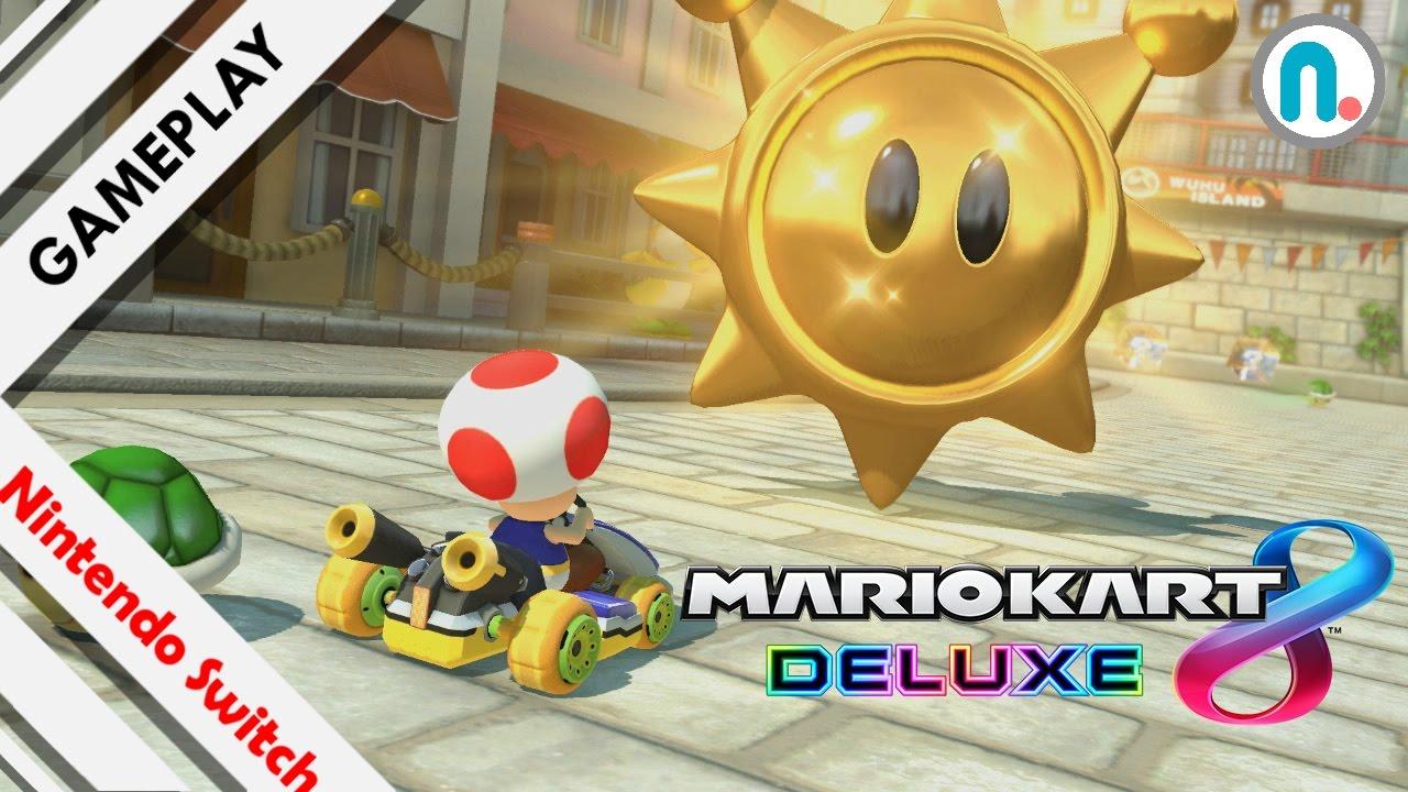 Resultado de imagen para mario kart 8 deluxe  atrapa el sol