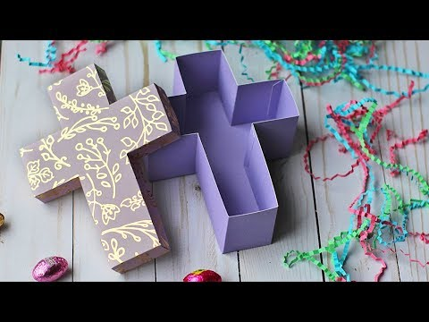 Cross Shaped Gift Box Tutorial | Easter Crafts 🐣 DIY Gift Boxes