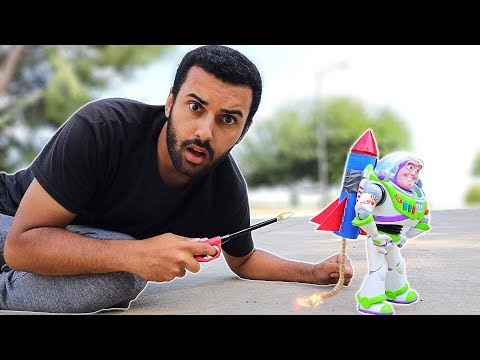 TOY STORY IN REAL LIFE!! SID'S PROJECT!! BUZZ LIGHTYEAR ROCKET!! WILL IT FLY 😱
