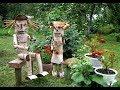 Дачные САМОДЕЛКИ для украшения сада, двора, огорода  Часть 1
