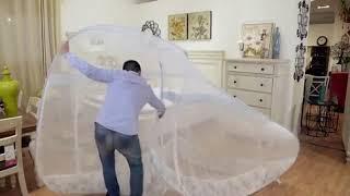 원터치 텐트형 모기장 캠핑 야외 침대 설치 접이식 싱글…