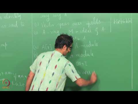 Lecture 8 - Modules and Homomorphisms