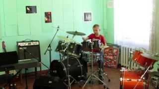 PSY - GANGNAM STYLE - Drum Cover -  Drummer Daniel Varfolomeyev - 9 years.