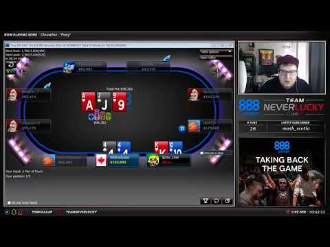 $55 SATURDAY REBUY FINAL TABLE ($3000 FOR 1ST!)