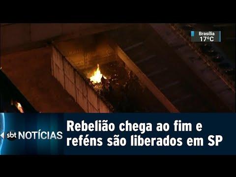 Rebelião em Taubaté durou quase 30 horas e teve 13 reféns   SBT Notícias (10/08/18)