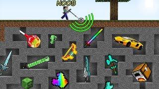 Minecraft Battle: NOOB vs PRO vs HACKER vs GOD - WHAT WILL FIND METAL DETECTOR Challenge! Animation!