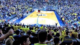 Milano maçında, 11463 seyircinin olduğu salondan bir mola anı coşkusu