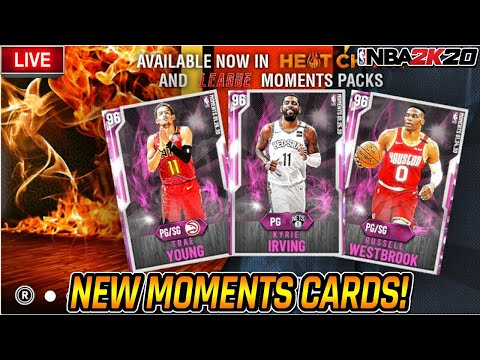 NBA 2K20 MYTEAM - NEW MOMENTS CARDS! PINK DIAMOND KYRIE IRVING! WESTBROOK, LILLARD, TRAE YOUNG!