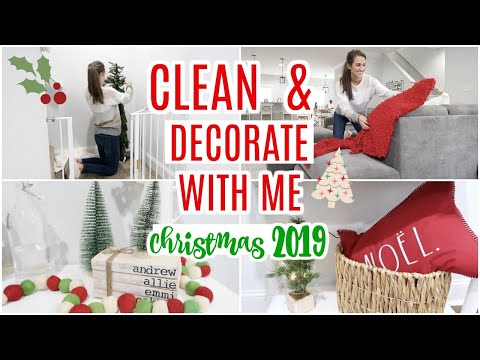 CHRISTMAS CLEAN AND DECORATE WITH ME 2019 // CLEAN WITH ME 2019 // Simply Allie