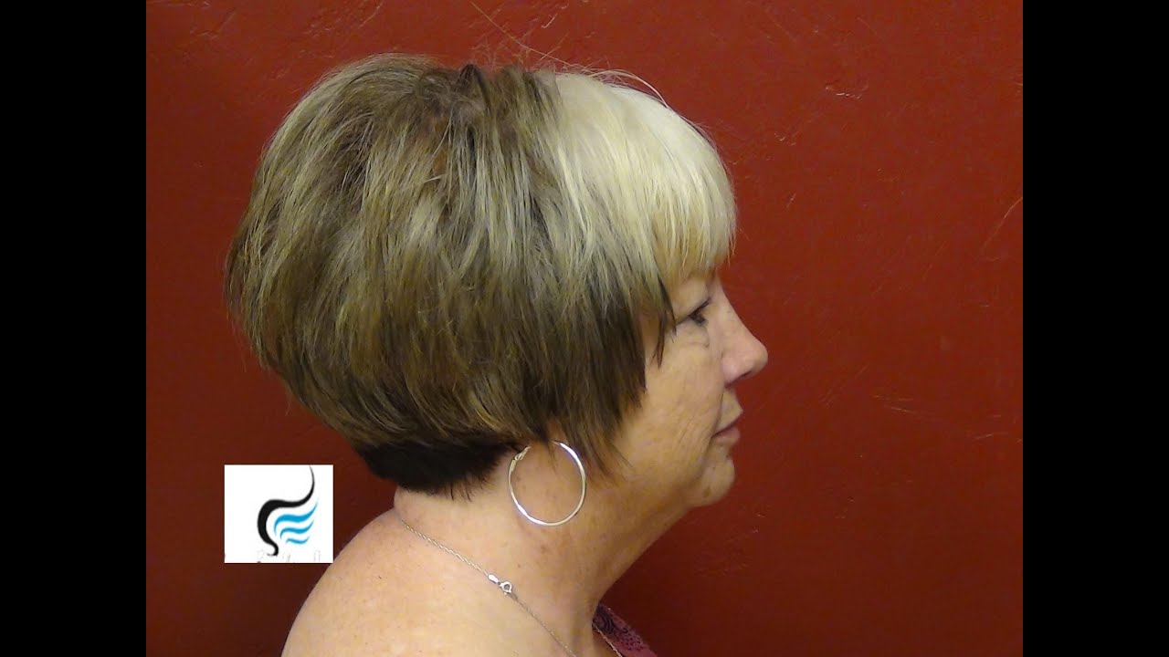 Short, Stacked, Wispy Hair Style - YouTube