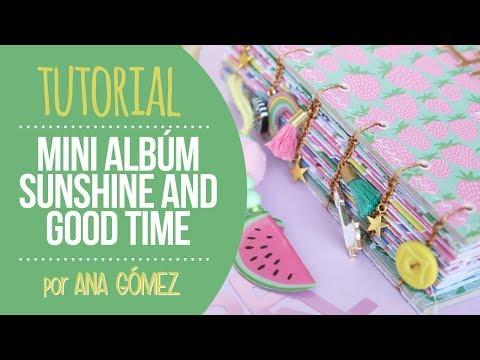 Tutorial Parte 3 Mini Álbum Sunshine - Encuadernación Copta - por Ann's Miles