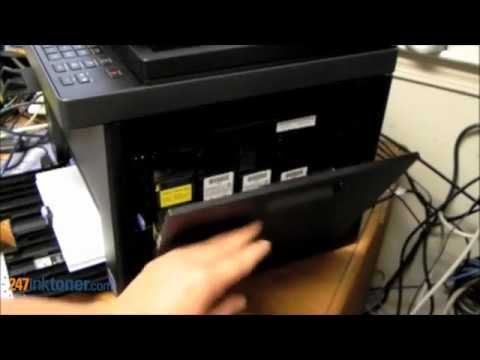 How to change the Dell 1355cnw toner cartridges by 247inktoner com