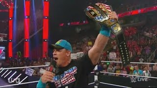 "John Cena Addresses ""John Cena Sucks!"" Chants After WRESTLEMANIA 31 on WWE RAW 3/30/15 HD"