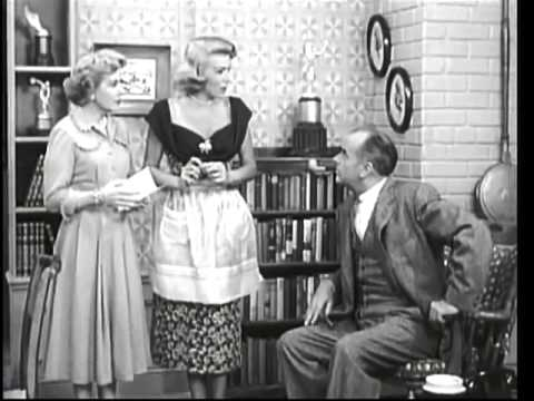 THE GEORGE BURNS and GRACIE ALLEN SHOW    Gracie Gets a Jury Summons  4th Season ) with Will Wright