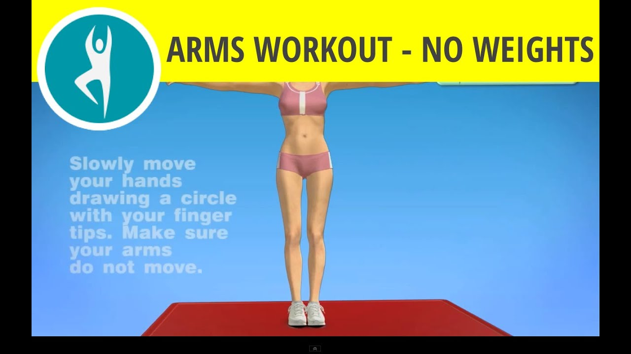 Arms Workout Without Weights Wrist Circles